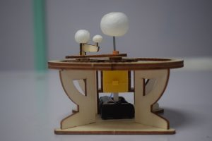 The Smart Maker 3d wooden planet model
